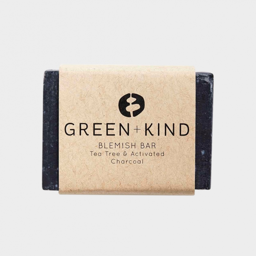 Green + Kind Facial Cleansing Bar – Blemish Bar (100g)