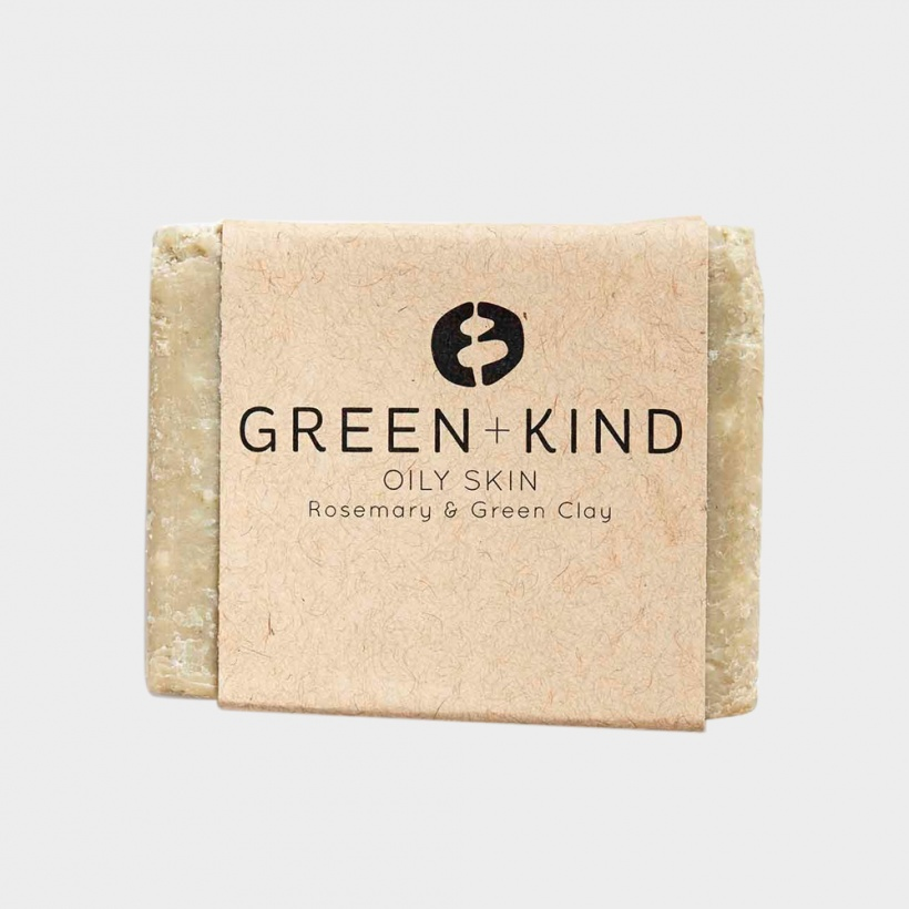 Green + Kind Facial Cleansing Bar – Oily Skin (100g)