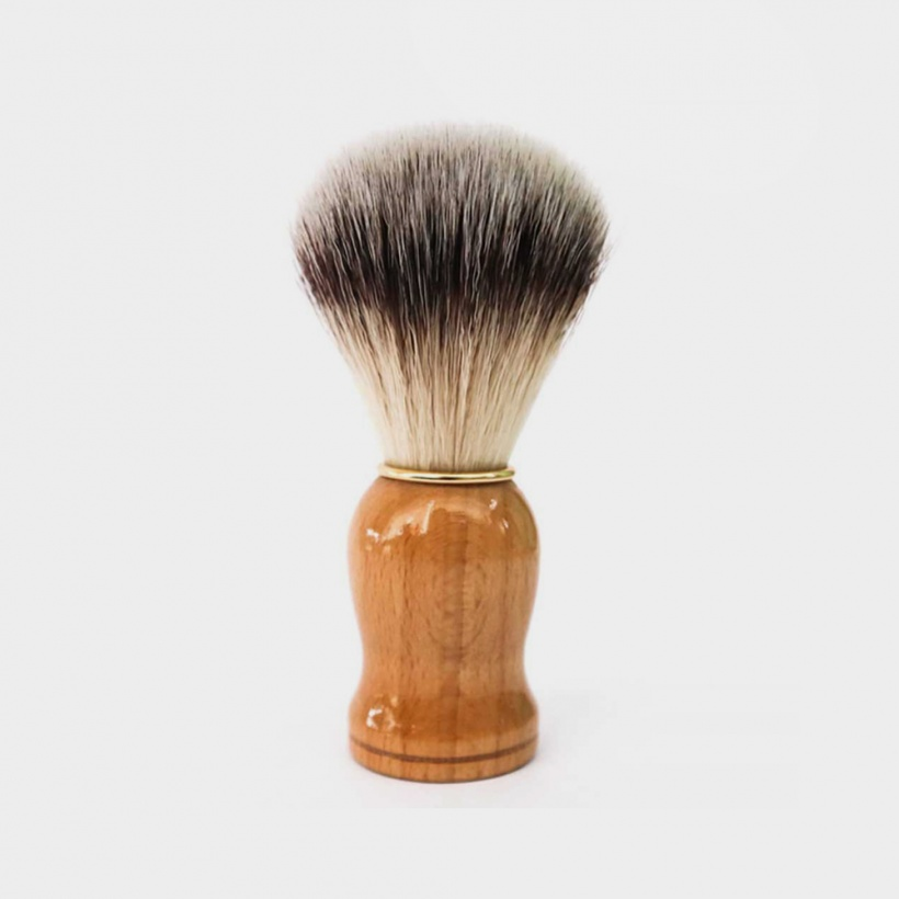 Green + Kind Vegan Shaving Brush Wood