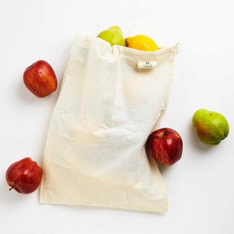 Green + Kind Organic Cotton Produce Bag Muslin