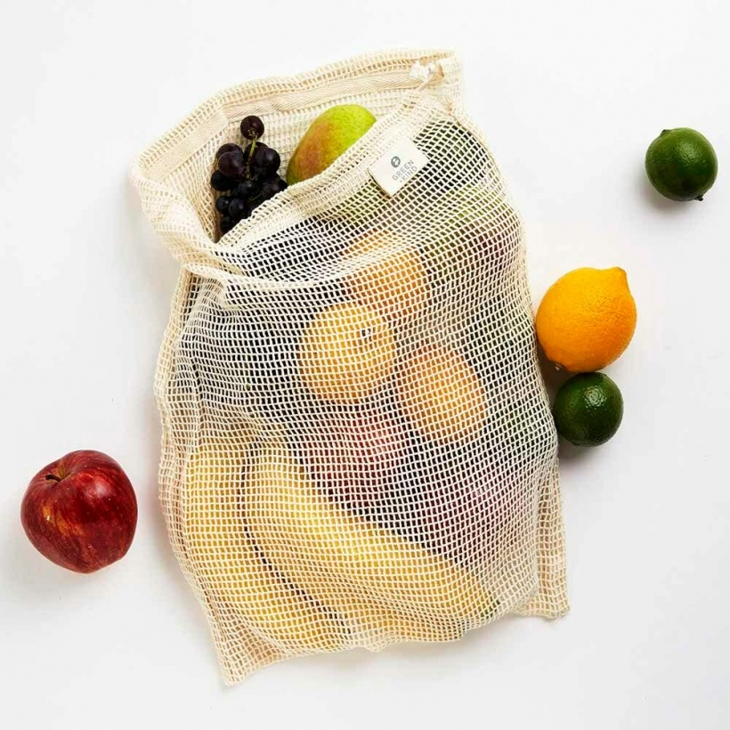 Green + Kind Organic Cotton Produce Bag Net