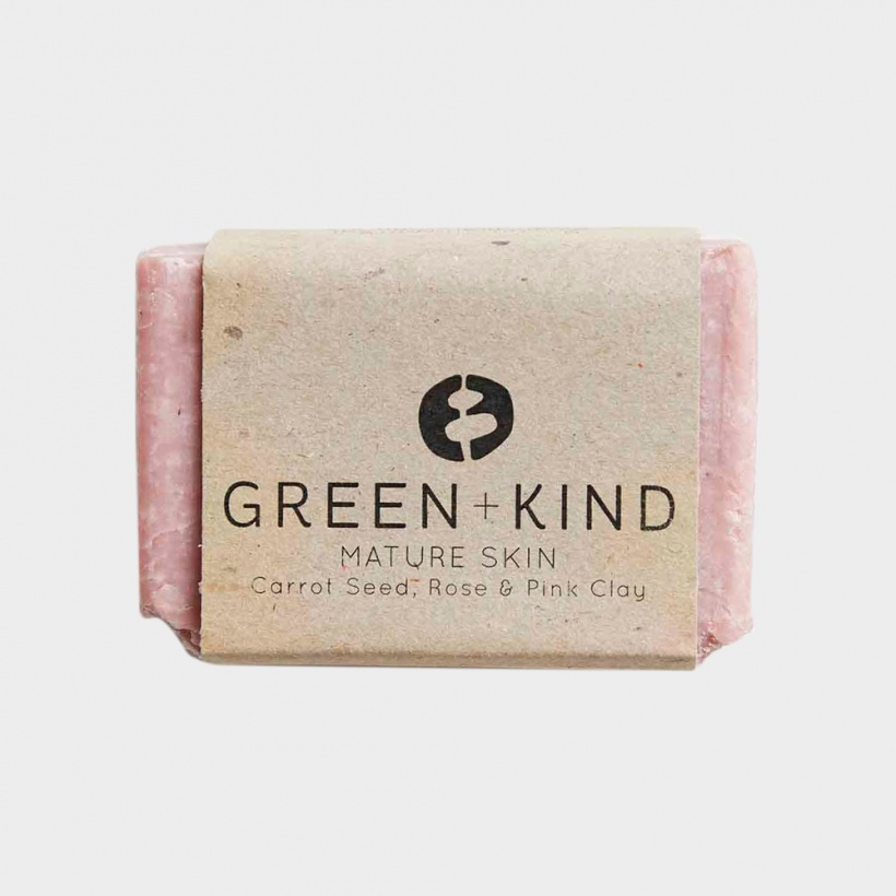 Green + Kind Facial Cleansing Bar – Mature Skin (100g)