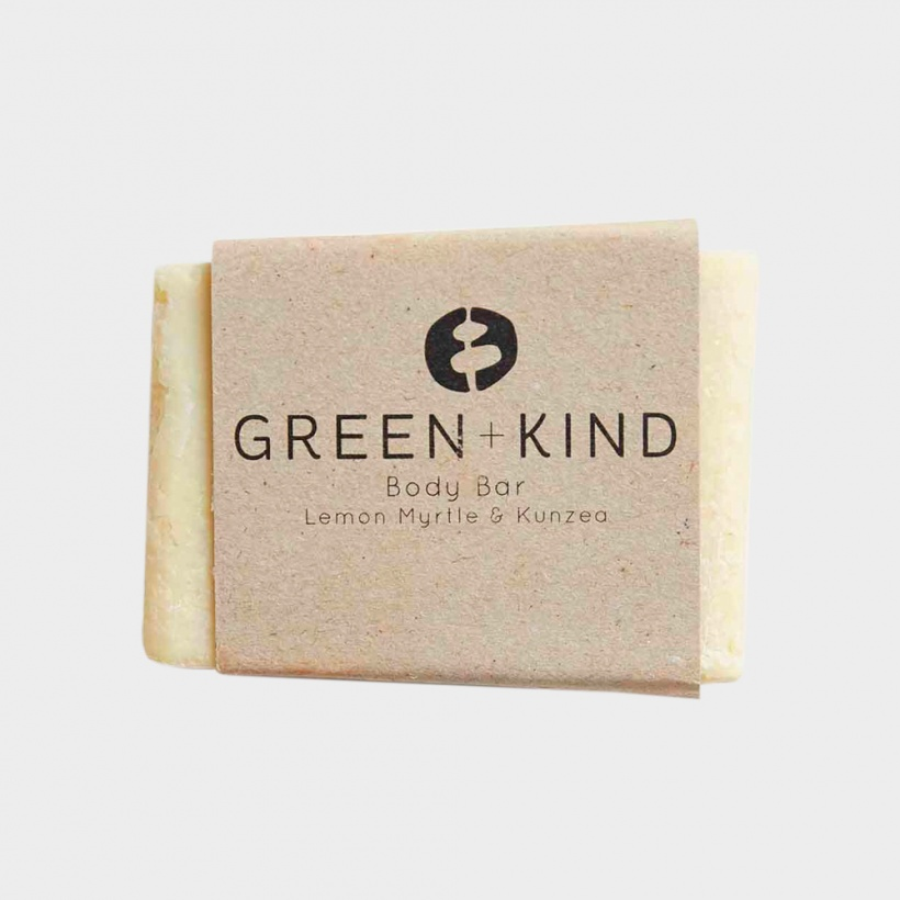 Green + Kind Body Bar – Kunzea & Lemon Myrtle (100g)