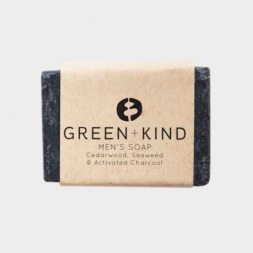 Green + Kind Facial Cleansing Bar – Men's Bar (100g)