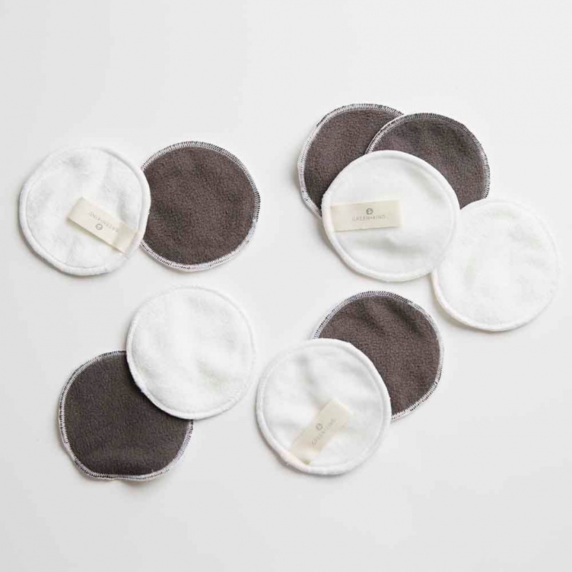Green + Kind Reusable Make Up Remover Pads Mixed 10 Pack