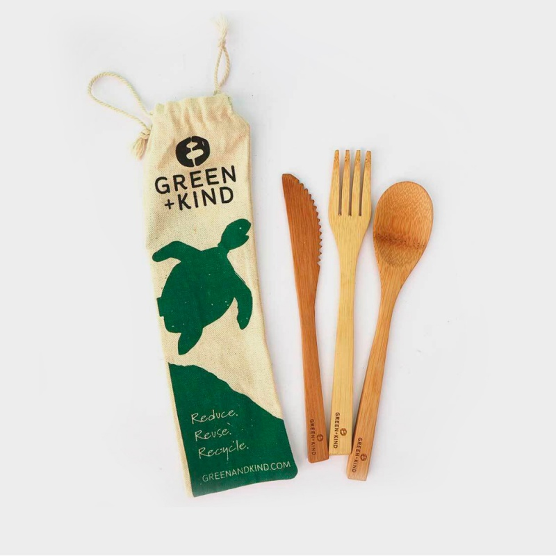 Green + Kind Bamboo Cutlery Set – Essentials