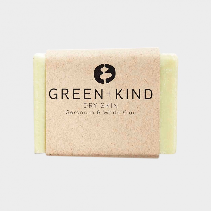 Green + Kind Facial Cleansing Bar – Dry Skin (100g)